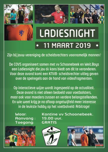 Kennissessie voetbalarbitrage Ladies Night in Nieuw-Schoonebeek