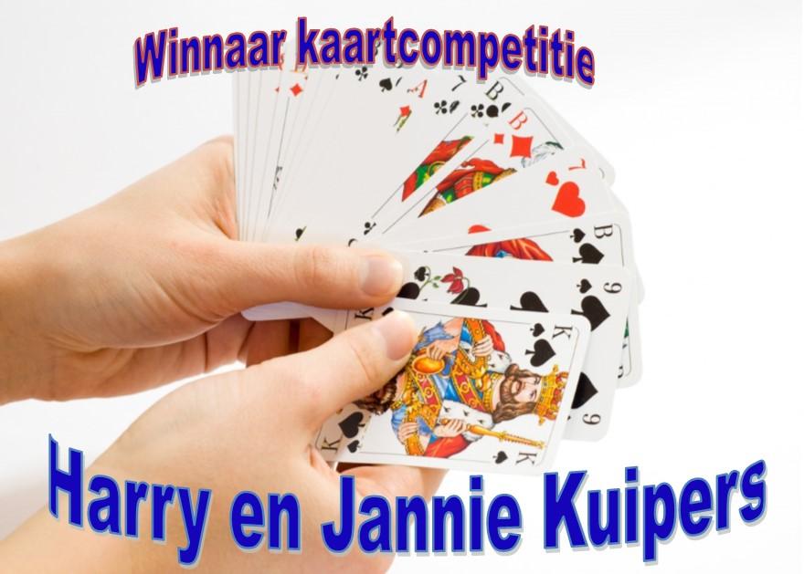 Kaartcompetitie HZOD-prooi voor de familie Kuipers.